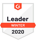 Leader G2 software award, winter 2020